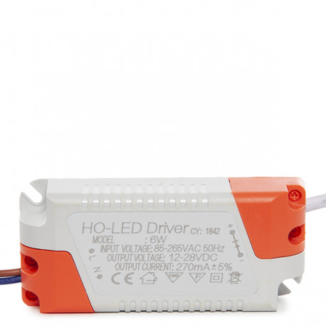 Non Dimmable Driver 0.95PF 50.000H for 6W LED Spotlights / Downlights