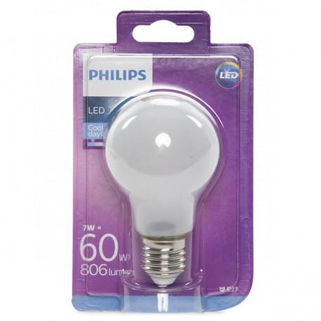 Lampadine Philips Led.Lampadina Led Philips E27 A60 7w 806lm Bianco Freddo