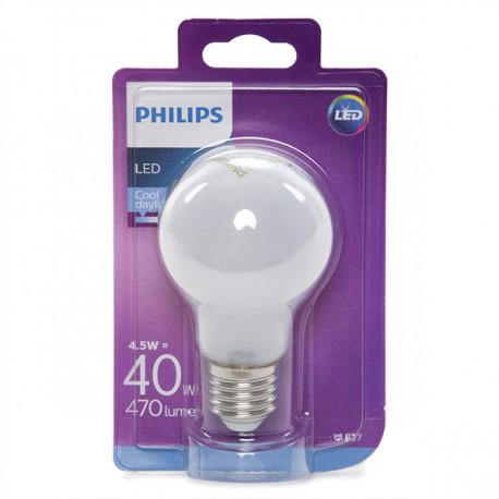 Bombilla LED Philips E27 A60 4,5W 470Lm Blanco Frío