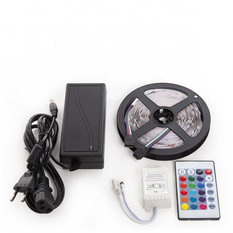 150 LED Strip Kit 36W RGB Blister Pack with Transformer,Controller and Remote Control INDOOR IP25