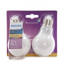 Pedaços A60 Cálido2 Lâmpada LED 5W 4 470Lm Philips E27 Branco FJucTlK13