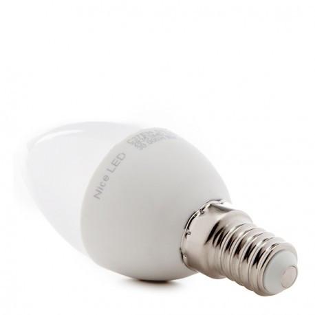 Bombilla de LEDs Vela 2835SMD E14 5W 700Lm 50.000H