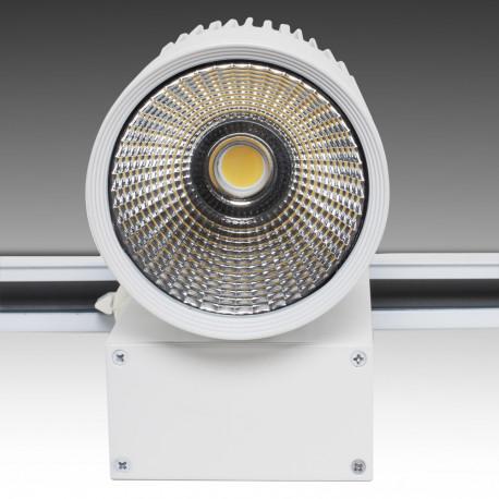 Foco Carril LED Blanco 20W 1600Lm Epistar - Kimera