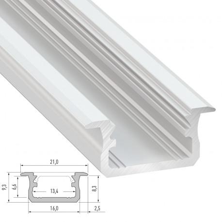 Profile Aluminium Type B-Sin Anodizar-2,02M