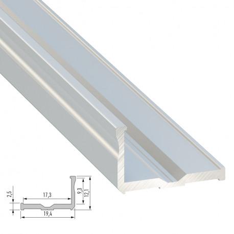 Perfíl Aluminio Tipo E 2,02M