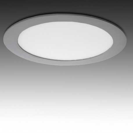 Led Slimline Downlight Raunds 18W Sudrabs