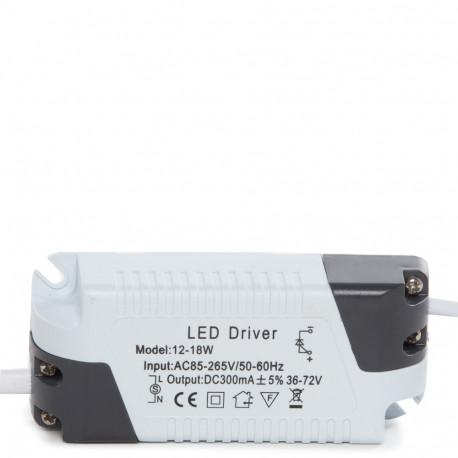 Downlight Slim 18w IP20 Uzstādītas VirsmasBalts