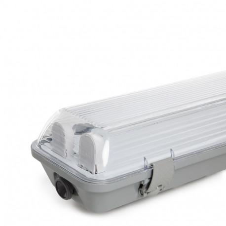 Luminária Estanque 2x18W Tubo De Led