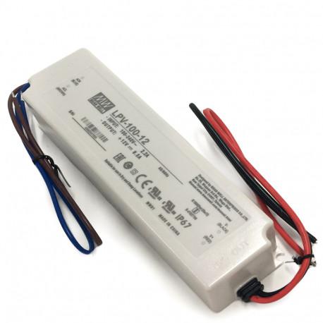 Transformador 100W 12Vdc IP67 8,5A