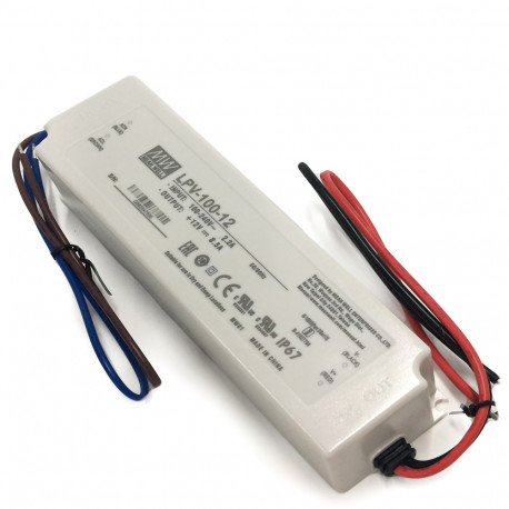 Transformer 100W 12Vdc IP67 8,5A