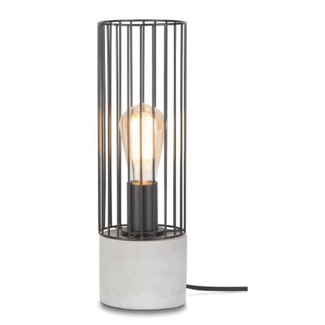 [IAR-MEMPHIS/T/B] Lampe De Table Le Fer/Ciment Memphis 39xØ11,5cm