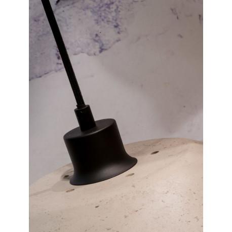 [G-M-Borobudur/H40/LG/SHADE] Pantalla Lámpara Suspendida Borobudur Pasta Papel/Viruta 40x35cm M