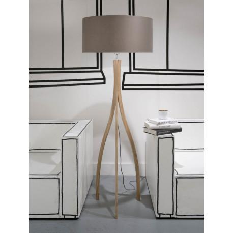 Iar Montreal F N 6030 A Floor Lamp Ash Wood 3 Legs Montreal 135cm Lampshade 60x30cm
