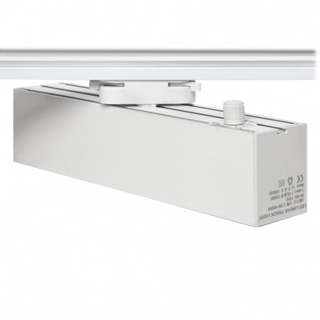 Foco Carril LED Lineal Monofásico 12W Blanco CCT Ajustable