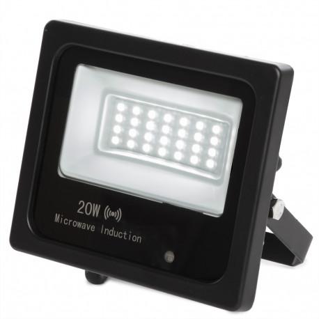 LED Spotlight Floodlight IP65 Movement Detector Integrated 20W 30.000H