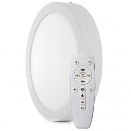 Ceiling Light LED 220mm 18W Remote Control (Brightness-CCT) 30.000H