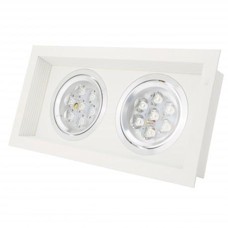 Downlight de LEDs Rectangular 2 x (1X7W)