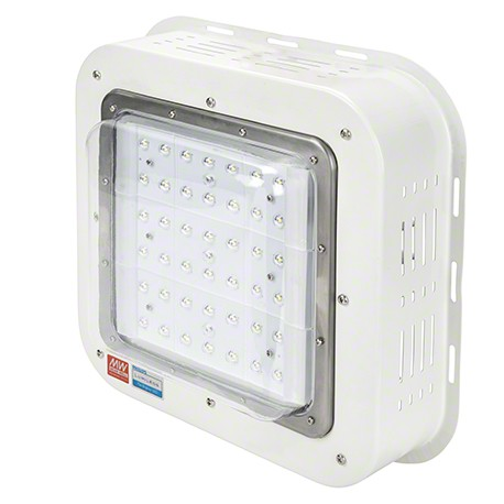 Plafón de LEDS Especial Gasolineras Philips/Meanwell IP65 IK08 100W 9500Lm 50.000H