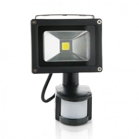 Foco Proyector de LEDs para Exterior 10W con Detector de Movimiento Luz: Blanco Natural