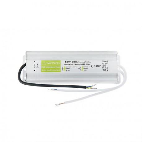 Transformador LEDs 150W 230VAC/12VDC IP67 Exterior IP67