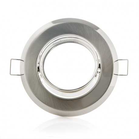 Aro Downlight Basculante Circular Aluminio Color Blanco 95/75mm (copy) (copy)