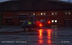 Nachtvluchten met legerhelikopters