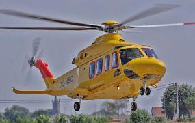 Nieuwste aanwinst van NHV, een AW139 van Leonardo aangekomen in Oostende