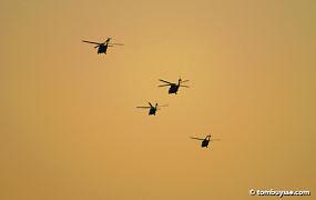 Amerikaanse legerhelikopters doorkruisen Belgisch luchtruim