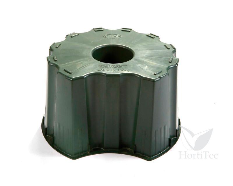 soporte deposito redondo verde