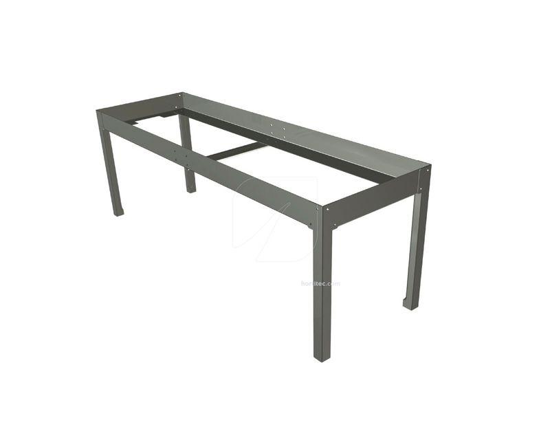 soporte mesa cultivo 0,33x1 gris