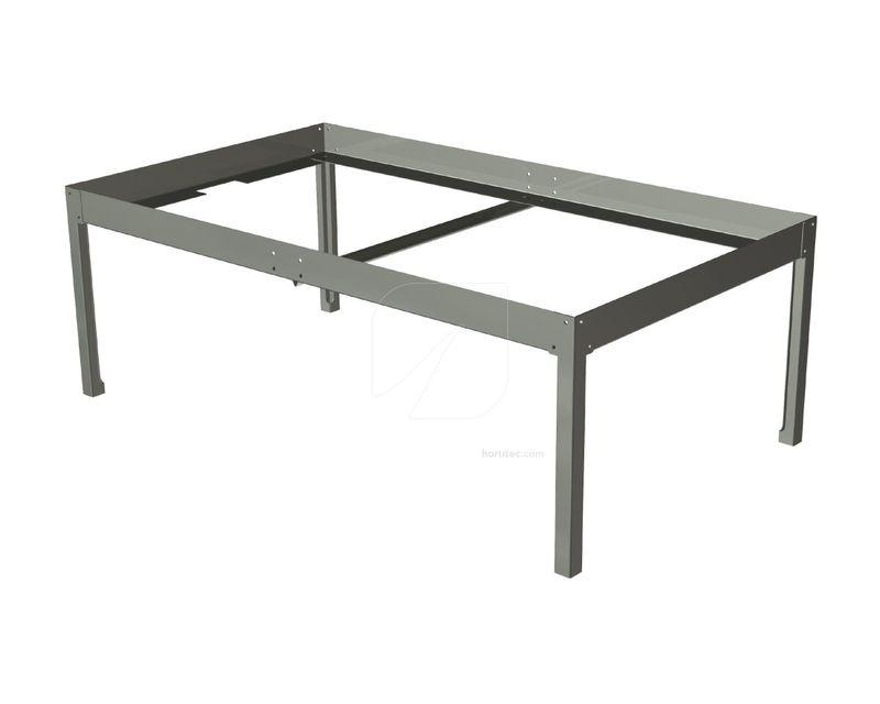 soporte mesa cultivo 0,63x1 gris