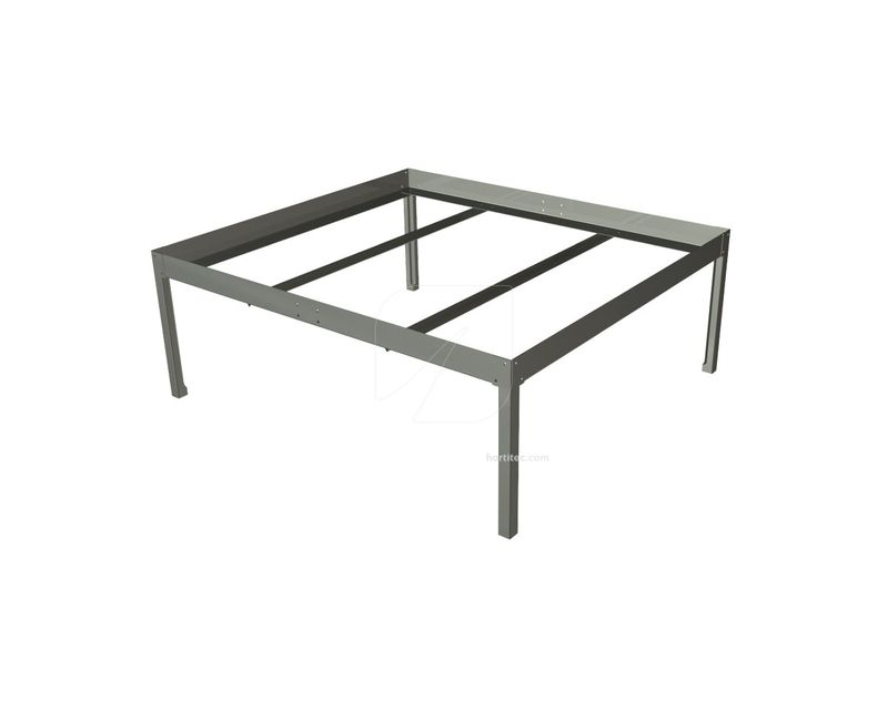 soporte mesa cultivo 0,6x0,6 negra