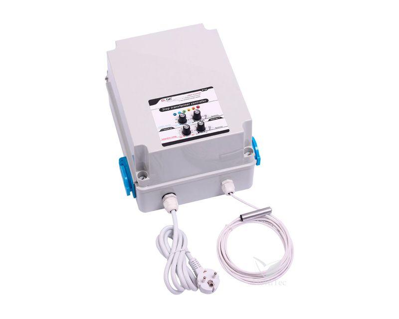 Controlador de temperatura y humedad con transformador (8A) 2 Pasos/1FAN