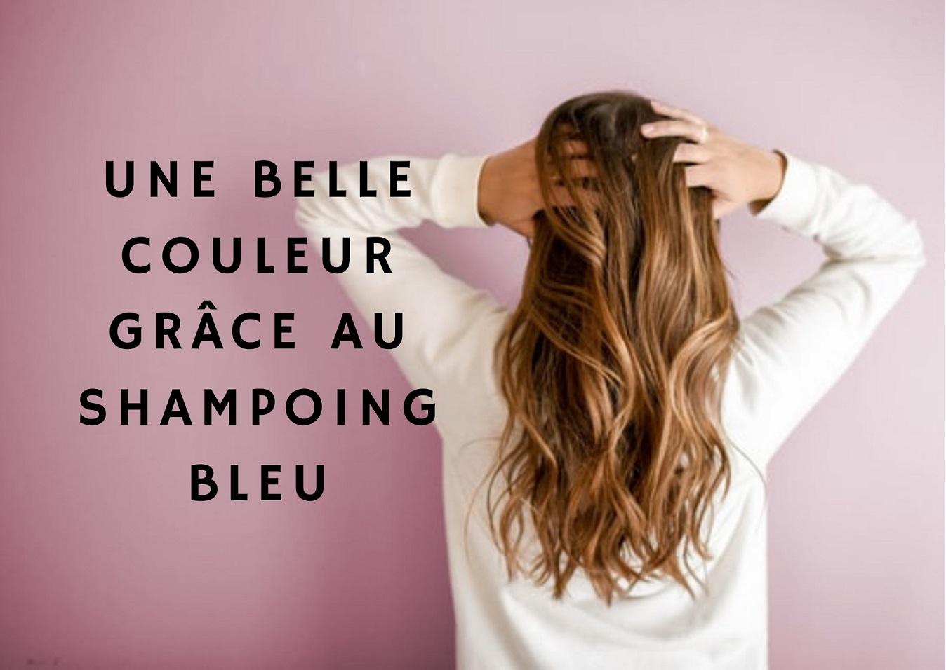 shampoing bleu