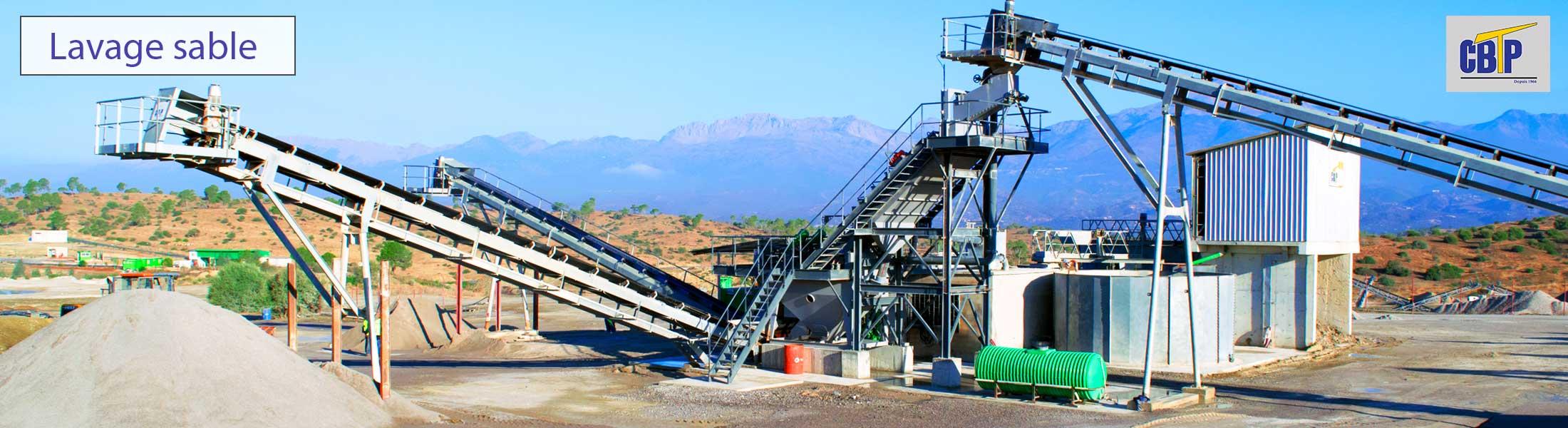 Carriére d eproduction de sable lavé, image globale