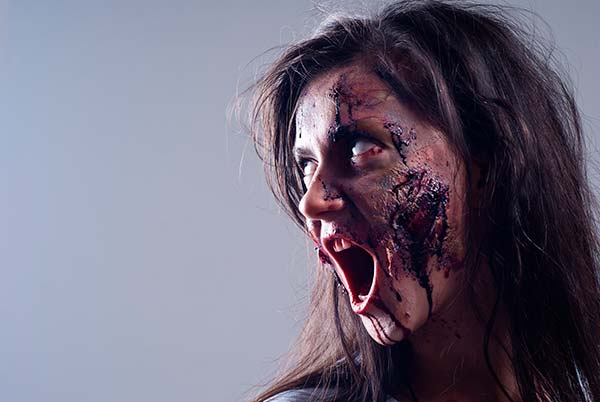 maquillaje zombie halloween implika