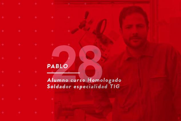 La valoración sobre Implika de Pablo, alumno del curso homologado de soldador TIG