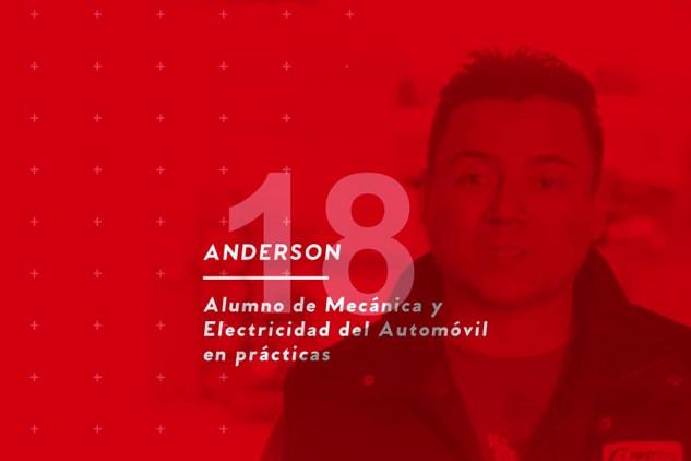 La opinión de Anderson Ríos, alumno de Mecánica y Electricidad del Automóvil