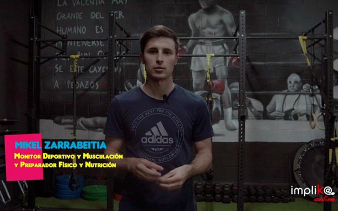 La experiencia de Mikel, titulado como Monitor Deportivo y Musculación, y Preparador Físico y Nutrición