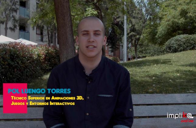 La valoración de Implika Online de Pol, alumno del FP Oficial de Diseño de Videojuegos