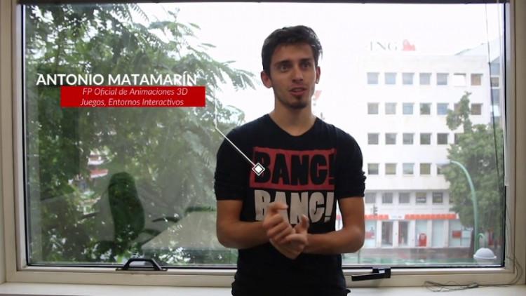 Opiniones de nuestro alumno Antonio sobre la FP de Creación de Videojuegos en Implika