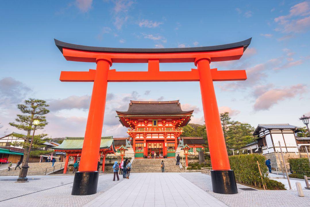 Kyoto is bekend van de Fushimi tempel