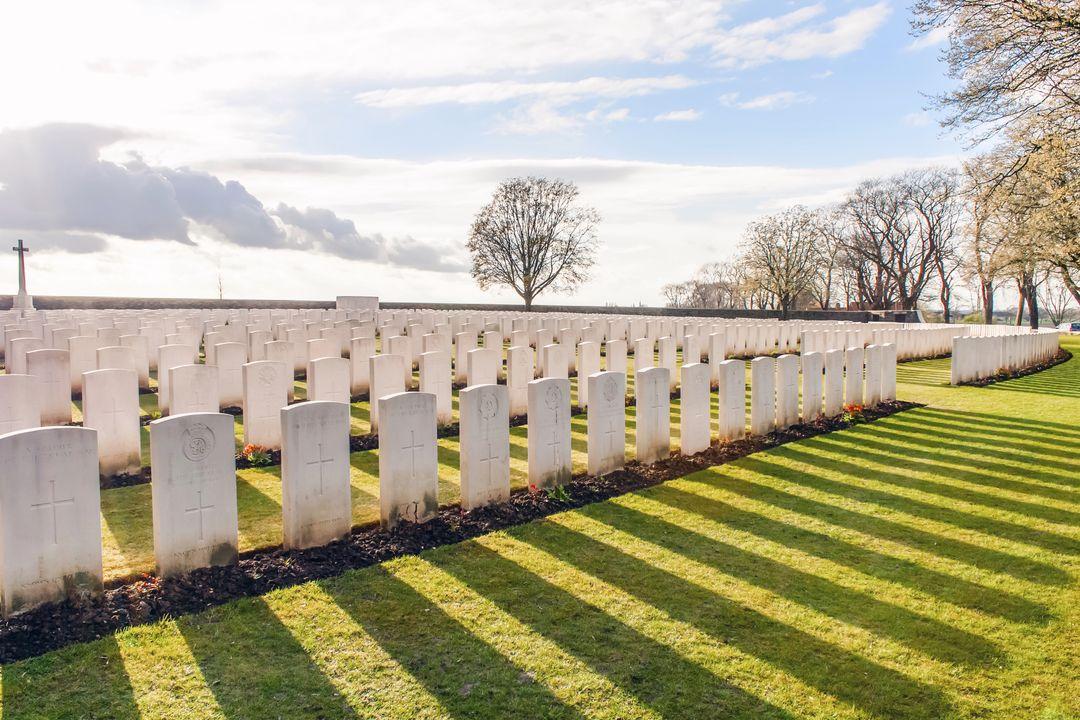 Veel begraafplaatsen WOI