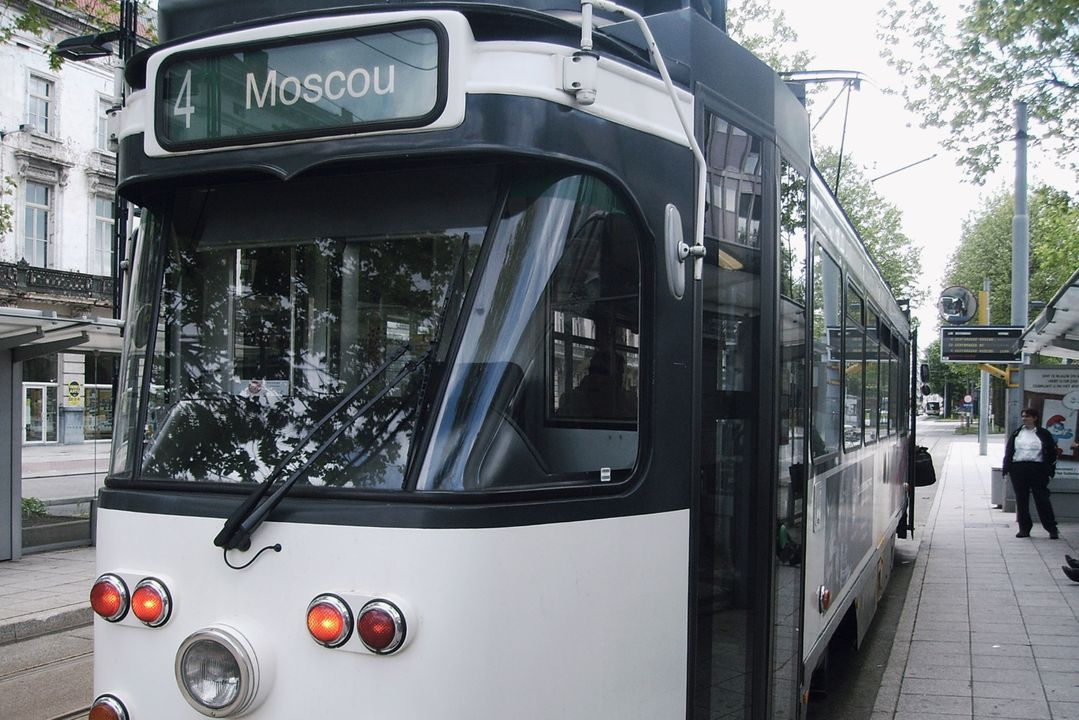 Tram naar Moscou
