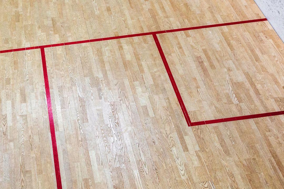 Squash speelveld van bovenaf