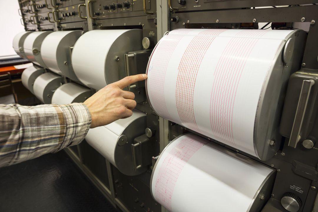 Moderne seismograaf / seismometer