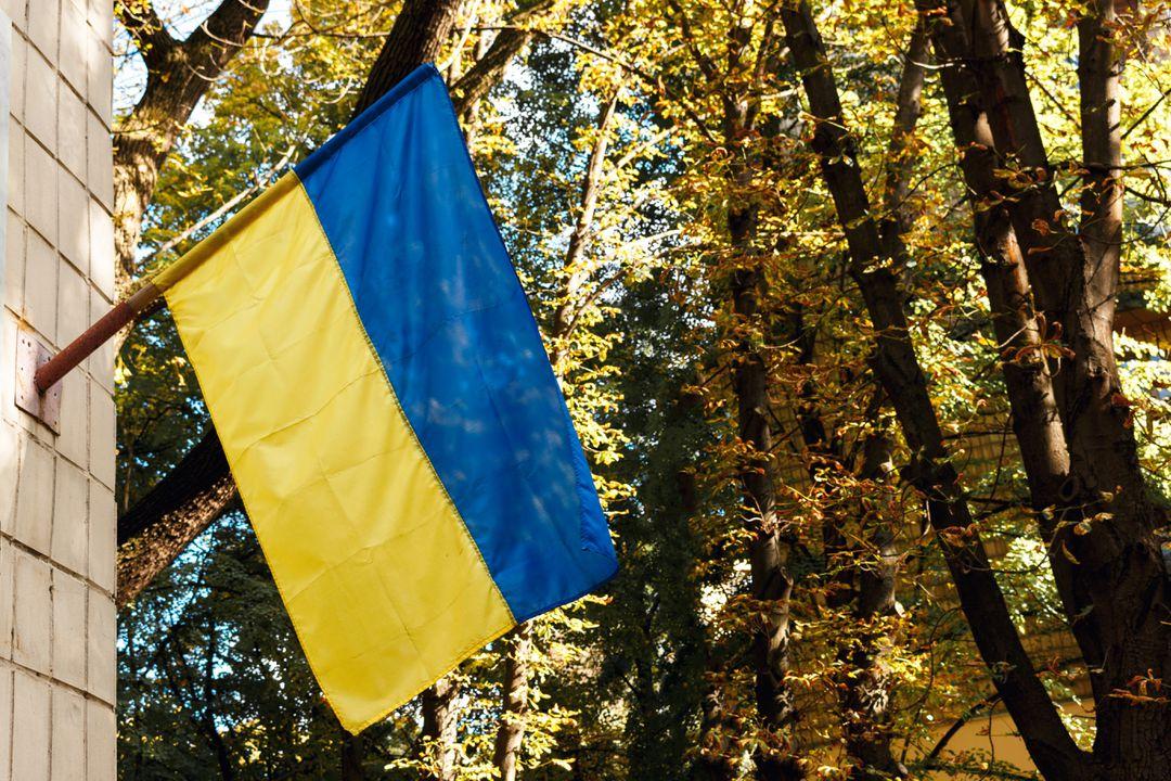 De vlag van Oekraïne