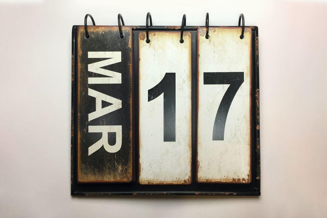 Valt op 17 maart