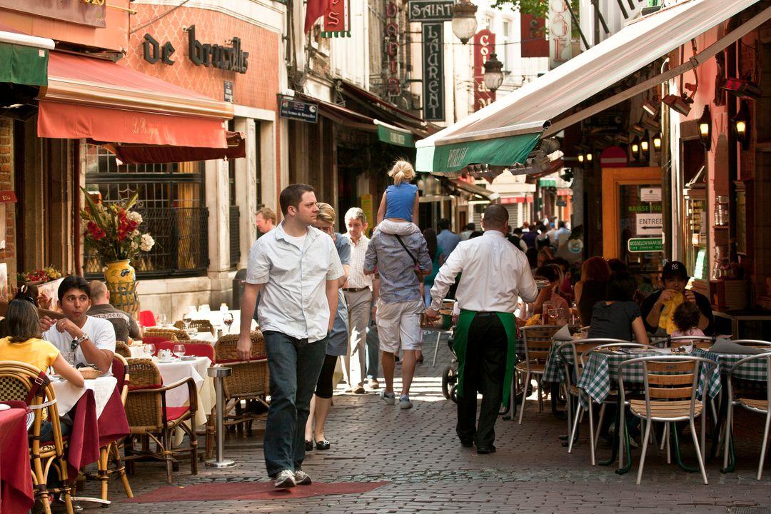 Beenhouwersstraat / Rue des Bouchers, Brussel