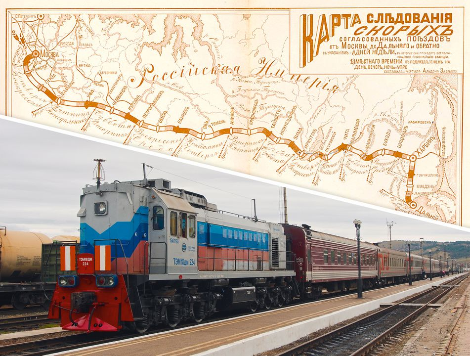 Trans-Siberische spoorlijn / Transsiberië Express